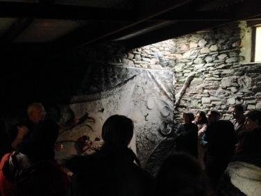 Ian Hunter gives a talk on the history of the Merz Barn