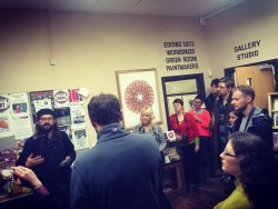 Merlin Fulcher's and The Hermit's walking tour of Florence Arts Centre and the Doremi exhibition