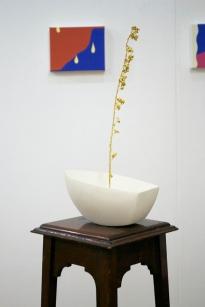 Elisabeth Porter, 'Hopeless Boat 1', stone boat, gold, fox glove