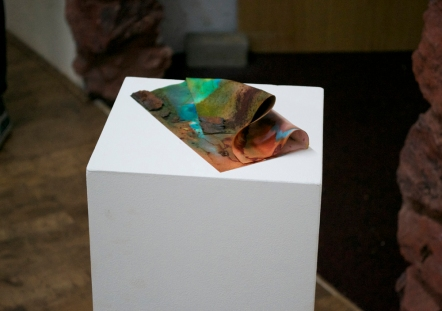 Sarah Tew, 'Gutter, remnant,' Chromatography paper, food dye, rust